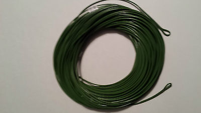 FLY LINE WF-10F 2 welded loops  Grass Green    MUSKY , PIKE , STRIPED BASS