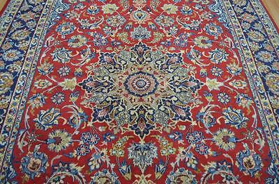 7'1x10'5 Lovely Colors Authentic Semi Antique Persian Isfahan Handmade Wool Rug
