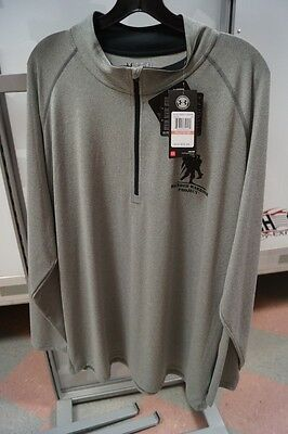 New Mens Ua Under Armour Pullover Wounded Warrior Grey L/s 3Xl Xxxl