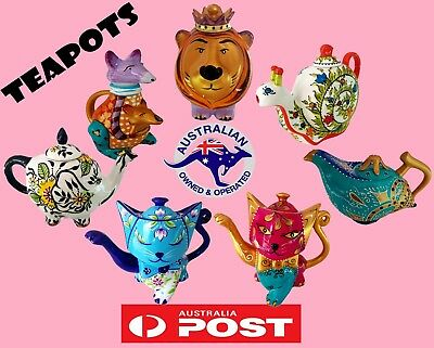 EXOTIC Tea Pots Hand Painted *Free Postage/ Hot Sell Gift / Wholesale Prices