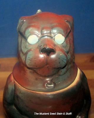 Antique Dog Mops Pug Stein wearing Glasses!