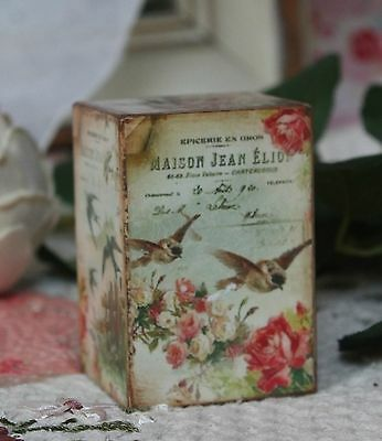 ~ Victorian Wooden Spring Shelf Block Vintage ~ Spring Birds... ~