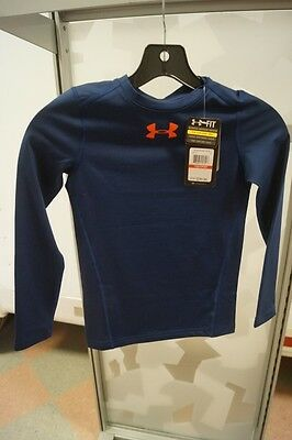 New Youth Ua Under Armour Shirt Cold Gear Navy Blue Extra Small Xs