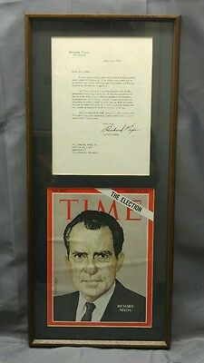 Signed Richard Nixon letter 1961 regret response to Convention of Flying Tigers