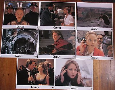 Contact (1997) - USA Lobby Cards (full set of 8) / Jodie Foster