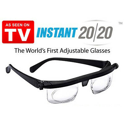 new Adjustable HD Dial Eye Glasses Vision Reader Glasses with Case AS ON TV