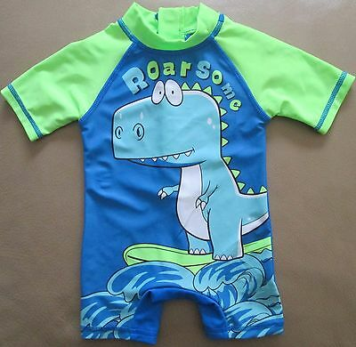 Bathing Suit Baby Boys Swimwear Bathers Surf Beachwear One Piece Blue Sz 000 NEW