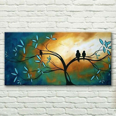Modern Large canvas NO frame hand-painted Art Oil Painting 24X48""