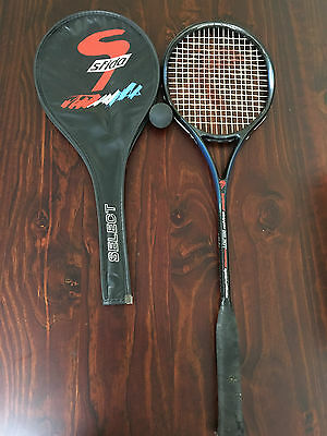 Sfida Squash racquet with cover and ball