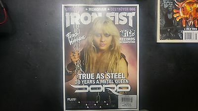 iron fist heavy metal magazine doro pesch issue #18  cover brand new heavy metal