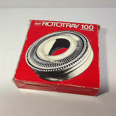 GAF Rototray 100 Slide Tray Carousel for 35mm Slides