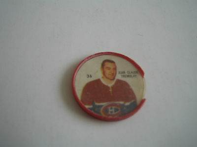 1960/61 Shirriff Nhl Jean Claude Tremblay Coin #36***montreal Canadiens***