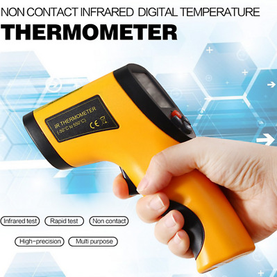GM320 Non-Contact Laser LCD Display Digital IR Infrared Thermometer Temperature@