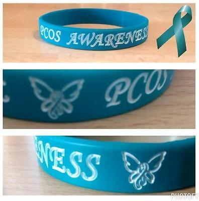 ***one Of A Kind 'pcos Awareness' Butterfly Design Wristband/bracelet***