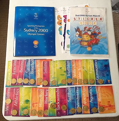 Shell Official Sydney 2000 Olympic Sporting Medals,  Album & Sticker Book *mint*