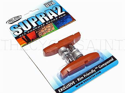 NEW Kool-Stop Supra 2 Bicycle Brake Pads - Threaded All-Weather Salmon