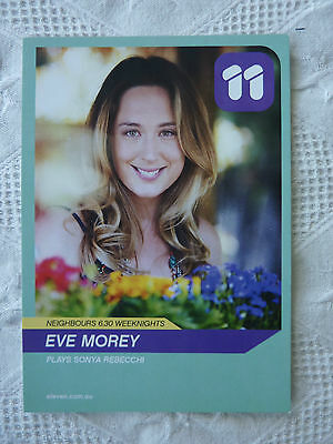 NEIGHBOURS FAN CARD  Eve Morey plays Sonya Rebecchi NEW