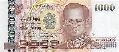 Thailand  1000  Baht  ND 2005  P 115  Series  1 F Uncirculated Banknote