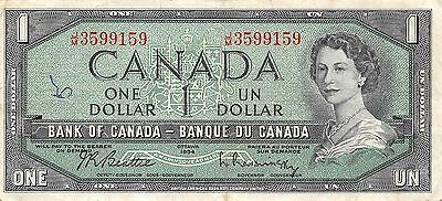 Canada  $1  1954  Series J/M  Que. II  Circulated Banknote