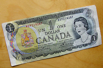 1973 Bank of Canada One Dollar- signed Lawson / Bouey