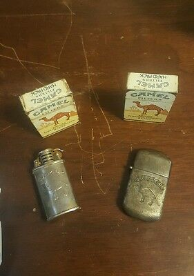 4 collectable camel lighters all in great condition collectors item for sure