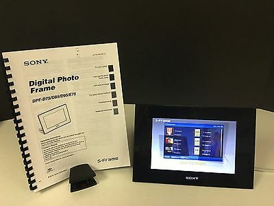 sony dpf d95 9 digital picture frame s frame lcd no stand