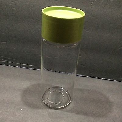 Pyrex Glass Jar See n Store 7in Tall Canister Storage Avocado Bubble Seal Lid