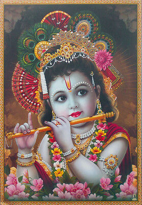 """Young Lord Krishna - POSTER (Normal Paper 11""""x15"""")"""