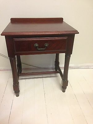 Wood bedside tables x2