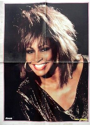 TINA TURNER (62x47cm) + CHAKA KHAN + LIONHEART POSTER on back