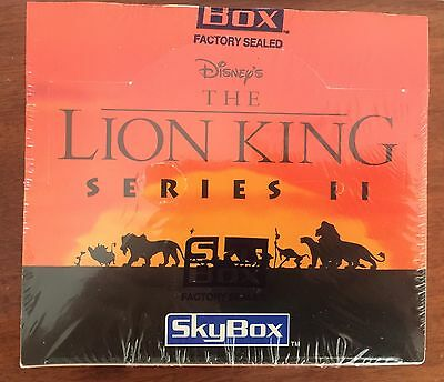 The Lion King - Movie Series 2 Trading Cards Box -36 packs-Skybox-Factory Sealed