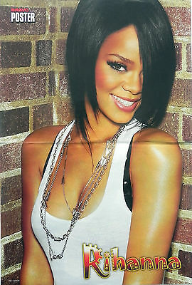 Robyn RIHANNA Fenty, Barbadian recording artist & US5 POSTER two sided poster