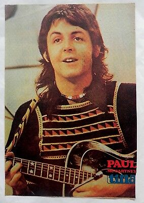 Paul McCartney, The Beatles, magazine clippings PORTRAIT VERY OLD