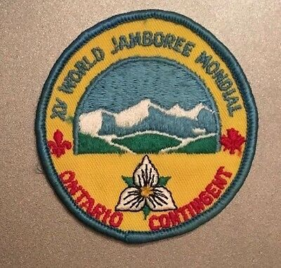 1983 WORLD SCOUT JAMBOREE BADGE - ONTARIO CONTINGENT PATCH Scouts Canada