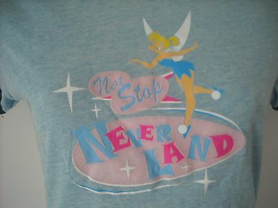 Tinkerbell Next Stop Never Land T Shirt Disney New with Tag