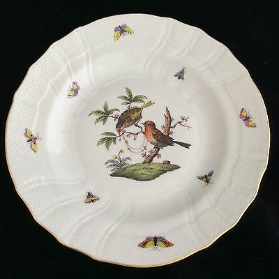 HEREND ROTHSCHILD BIRDS 10 INCH DINNER PLATE WITH DEEP CAVETTO.        No2