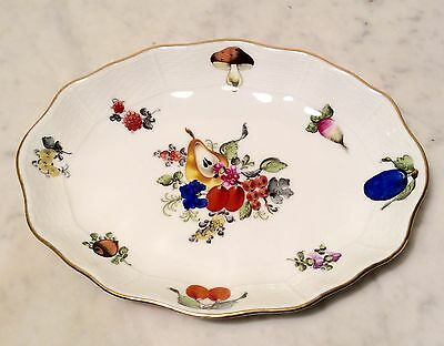 Herend Dish Fruit And Flowers Pattern