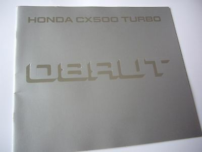 Honda CX500 Turbo, factory sales brochure
