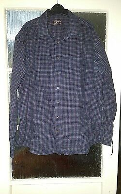 Mens Shirt Long Sleeves Navy Blue 17.5 Collar Marks and Spencers