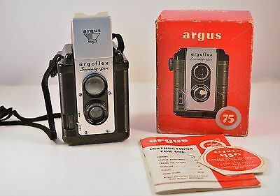 Vintage Argus 75 Film Camera in Box with Manual