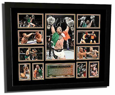 Conor Mcgregor Ufc 2 Division Champion Signed Limited Edition Framed Memorabilia