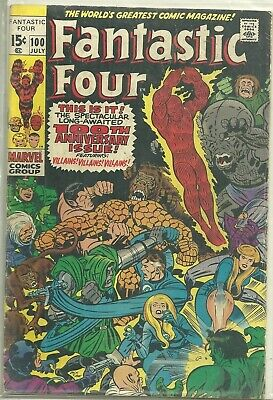 Fantastic Four #100 Marvel (1970) Bronze Age Comic FN/FN+ (Anniversary Issue)