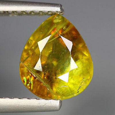 2.26 Cts_Simmering Ultra Nice Gemstone_100 % Natural Green  Sphene_Russia