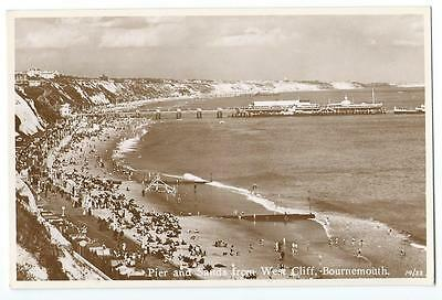 HAMPSHIRE, BOURNEMOUTH, PIER and sands, VINTAGE POSTCARD, c1950