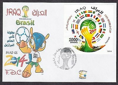 Fdc With Ms Fifa World Cup - Brazil 2014