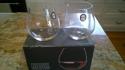 New Riedel O Pinot Stemless Wine Glass Set Of 2