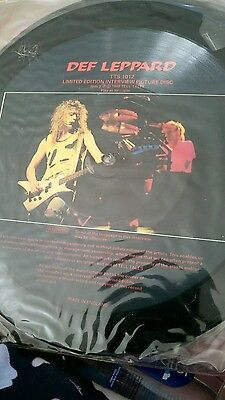 Def Leppard 12 inch picture disc