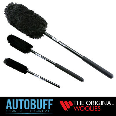 Wheel Woolies 3 Piece Wheel Brush Kit (B) with Comfort Grip Handles