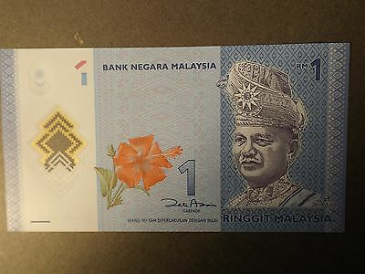 Malaysia 1 Ringgit Bank Note In Polymer Uncirculated