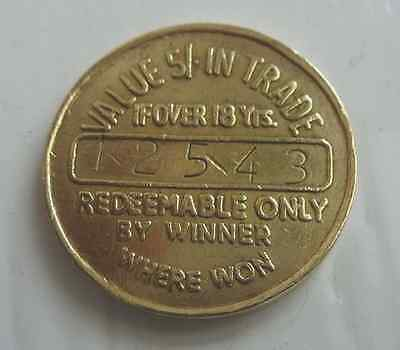 Long Life Take Home token value 5/ in trade, serial number 12543